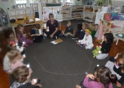 Classroom mat time at Little Sprouts Whakatane