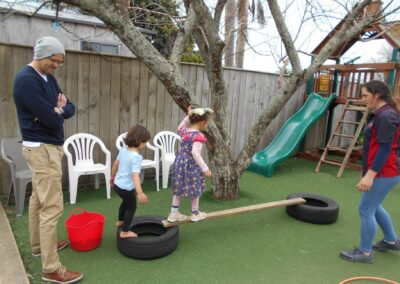 MOntessori Whakatane outdoor playground area