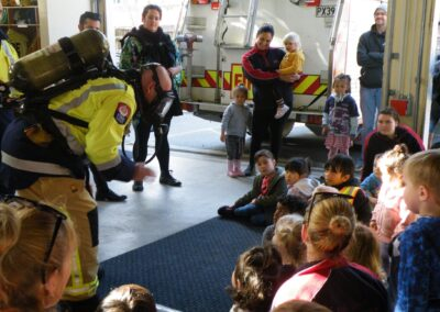 Little Sprouts children visiting the local fire brigade